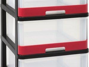 Hercule Ladesysteem - 3 x 25L - Zwart/Rood