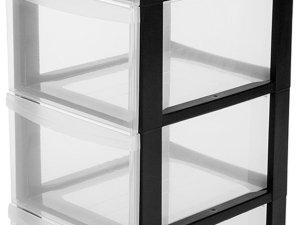 IRIS Ladesysteem - 4x 15L - Wieltjes - Zwart/Transparant