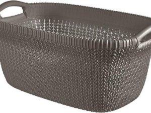 Knit Wasmand 40l Harvest Brown 60x39xh27cm (set van 4)