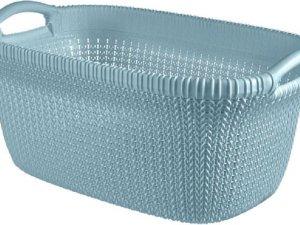 Knit Wasmand 40l Misty Blue 60x39xh27cm (set van 4)