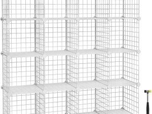Nancy's Vakkenkast 16 Stuks - Kasten Opbergkasten - Opbergbox 123 x 31 x 123 cm