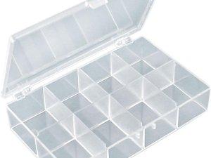Opbergbox met 8 Vaste Vakken voor Knutselspullen, Steentjes, Pixels, Diamonds of Sieraden
