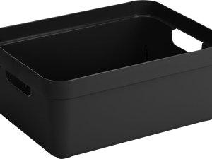 Sunware Sigma Home Opbergbox 24L - zwart - 45,3 x 35,4 x 18,3 cm