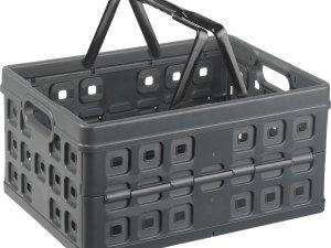 Sunware Square Vouwkrat - Met 2 extra handgrepen - 32 l - antraciet/zwart