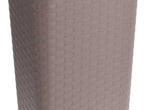 Taupe kunststof wasmand 60 liter - Wasmanden/wasgoedmanden - Huishoudelijke producten/artikelen - Huishouden