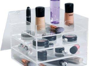 YOSMO Qube - Make up organizer - H20xB23xL23 cm - Clear Acryl - Make up opbergbox - Make up opbergen