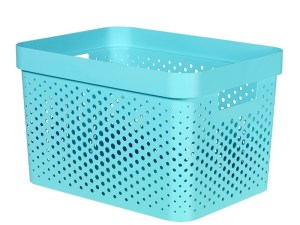 Curver Infinity Dots opbergbox 17L blauw