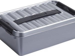 Sunware Q-Line opbergboxen/opbergdozen 4 liter 30 x 20 x 10 cm kunststof - Praktische opslagboxen - Opbergbakken