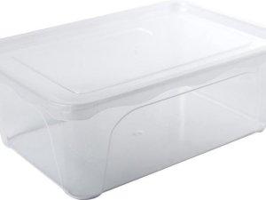 Voorraad/vershoudbakje hoog/diep 2 liter transparant plastic/kunststof - 22 x 15 x 8 cm - Vienna - Vershouddoos bakje - Mealprep - Maaltijden bewaren