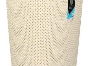Wasmand met deksel beige 60 liter - Kunststof wasmanden - Huishoudelijke producten