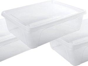 10x Voorraad/vershoudbakjes laag 2,5 liter transparant plastic/kunststof - 24 x 20 x 8 cm - Vienna - Vershouddoos bakjes - Mealprep - Maaltijden bewaren