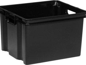 Allibert Vulcano opbergbox zwart - 30 L