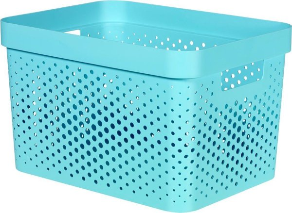 Curver Infinity Dots Opbergbox - 17L - Kunststof - Blauw