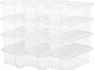 Kunststof Opbergboxen voor Schoenen - Transparant - Set van 12