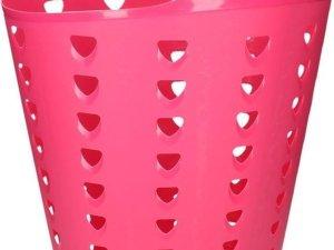 Roze wasmand flexibel 60 liter