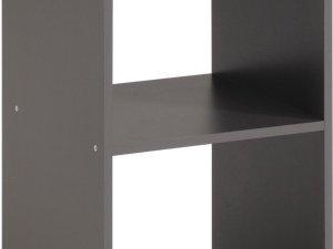 Opbergbox Kubikub met 2 vakken - grijs