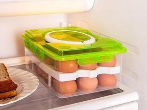 Organizer | Eieren | Eidoos | Opbergbox | Koelkast | Dozen | Mand | Home | Keuken | Kitchen | Eierdozen | Herbruikbare mand |