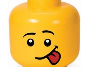 Opbergbox Lego - Head Boy Silly Small - Lego License