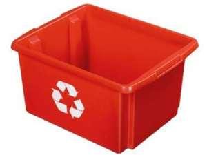Nesta eco opbergbox 32 liter - rood - 24x36x45