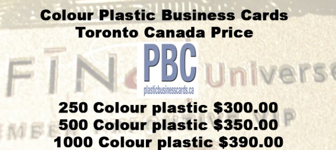 Full Colour Plastic Business Cards Toronto Canada Price
