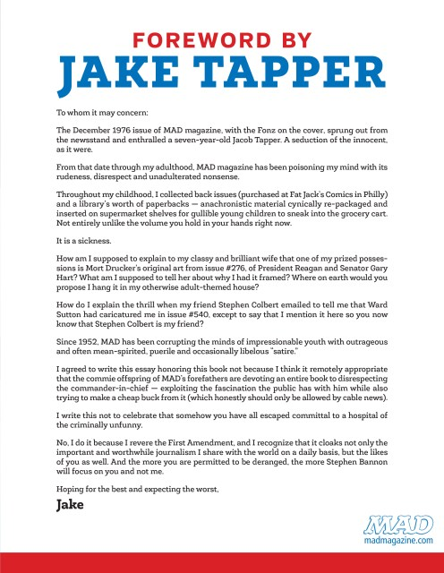 MAD ABOUT TRUMP TAPPER FOREWORD