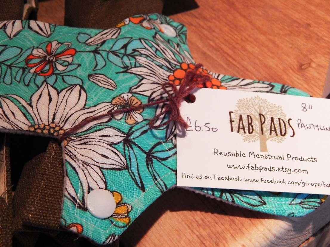 'Fab Pads' reusable menstrual pads