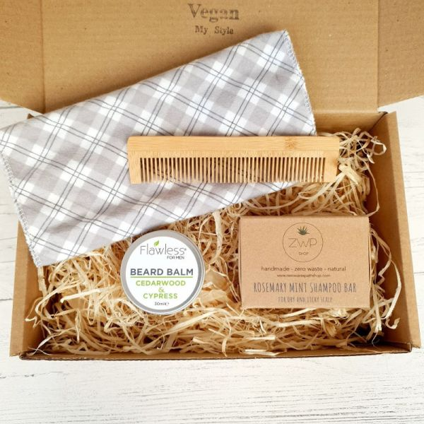 Beard Kit Gift Set Vegan Plastic Free 3