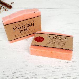 English Rose Natural Vegan Soap Bar (1)