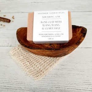 Rose Clay with Ylang Ylang and Clary Sage Natural Vegan Soap Bar 2