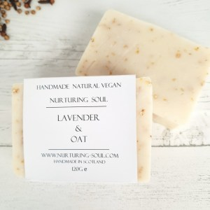 lavender and oat soap