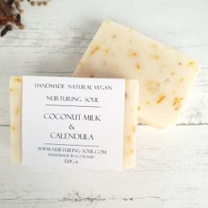 Coconut milk and calendula soap