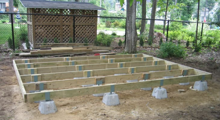 Timber Frame Shed Foundation