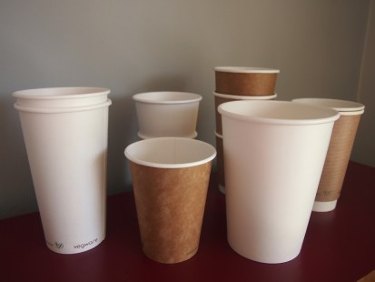 Vegware paper cup