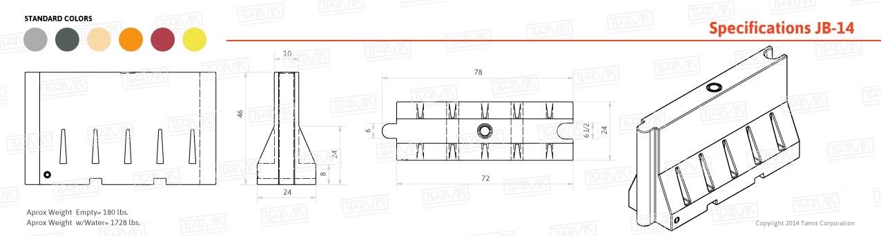 JB-14 Plastic Barrier Specification