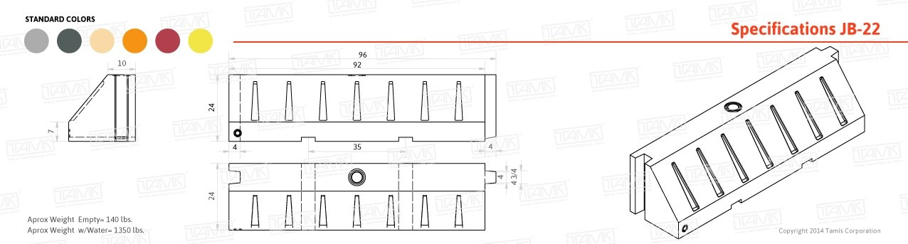 JB-22 Plastic Barrier Specifications