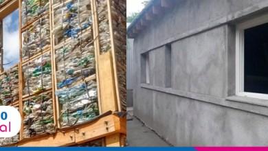 Foto de Argentinos criam sistema construtivo à base de madeiras e garrafas PET recicláveis