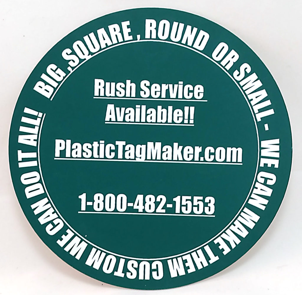 laser cut plastic tags