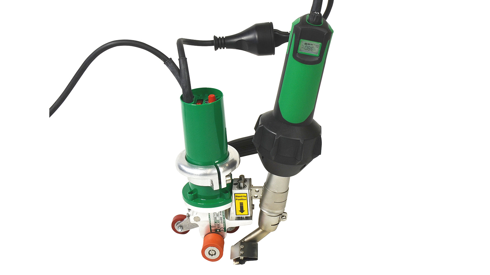hight resolution of leister triac drive hot air plastic welder for roofing membranes water proofing cafe awning