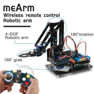 Kit Keywish Brazo Robótico mecánico juguete aprendizaje PS/2,4G control inalámbrico para Arduino R3