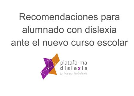Recomendaciones para el alumnado con dislexia
