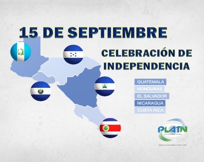 5 paises de centroamerica que festejan su imdependencia el 15 de septiembre