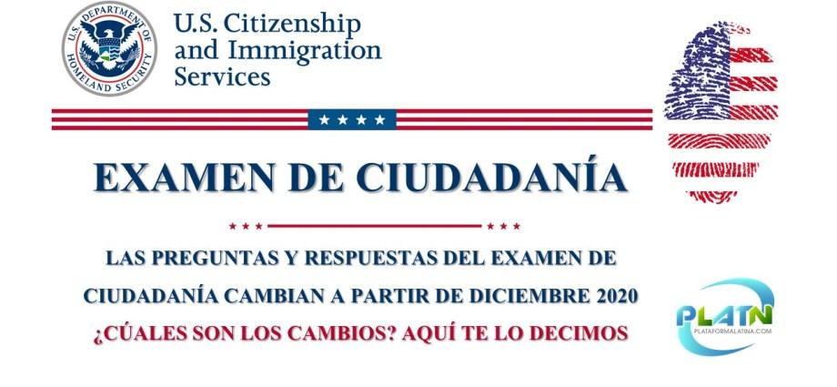 Cambios en el examen de ciudadania 2020