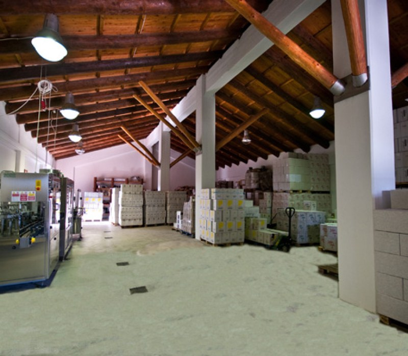 Inside winery