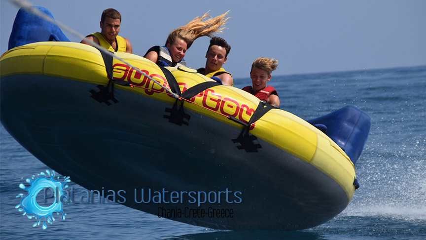 crazy sofa ride crushed velvet for sale rides platanias watersports in crete