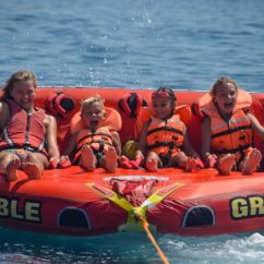 Crazy Sofa Ride Rust Rides Platanias Watersports In Crete Do I Need To Book