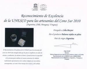 2010 Certificado ExcelenciaDiploma UNESCO