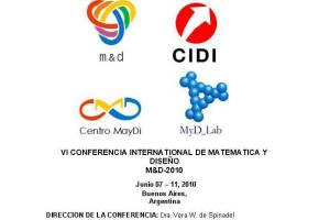 IV Conferencia Internacional de Matemática y Diseño