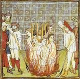 Los templarios quemándose vivos