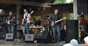 Hurricane Creek performs July 6 at the Village Green in Cashiers, N.C. before the annual firework show.