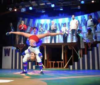 "Performers in ""Damn Yankees,"" the final production of the 80th season at The Highlands Playhouse."